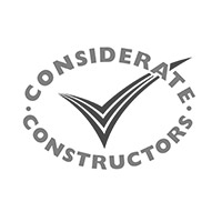 Hall & Kay Fire Engineering Considerate Contractors Logo