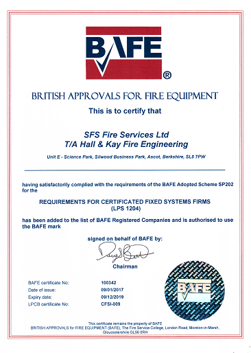 Hall & Kay Fire Engineering Protection Detection Safety